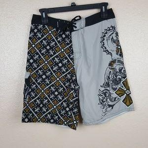 Micros Men's Board Shorts Size 34 Multicolor RE8